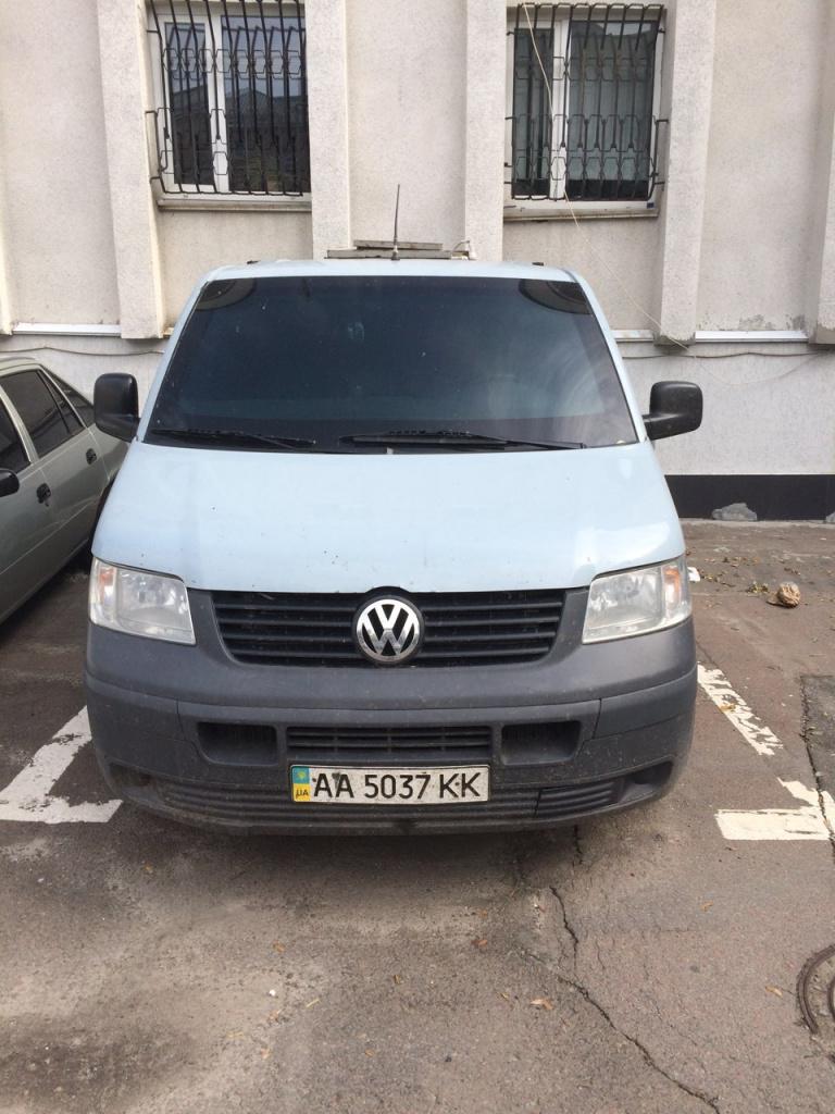 """Автомобіль Volkswagen Transporter , держ ном №АА5037КК, 2008 року вип, номер шасі WV1ZZZ7HZ8H125033, об""""єм двигуна 2,5,тип пальн:дизель.осн.зас.45 од,бланки цінних паперів 2732 шт,осн.зас.40 од.(зона АТО),блан сув.обл.в зоні АТО у кількості 8780 шт"""